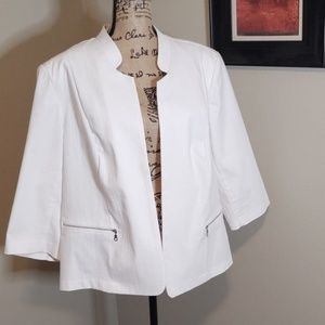 Roz & Ali textured zip pocket Blazer 3x